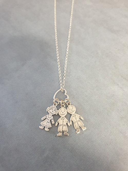 The 3 Kids Pendants Necklace