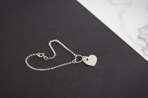 The Silver Hearts Bracelet