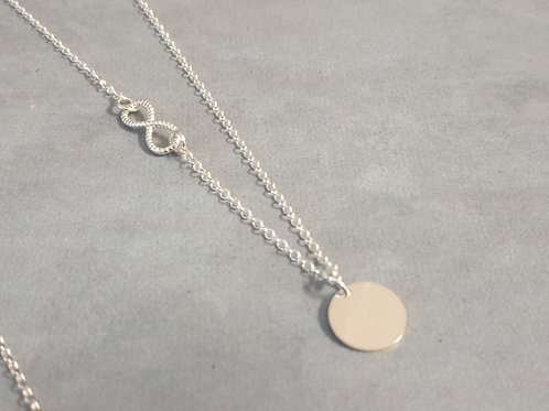 Silver Round Pendant with Infiniti