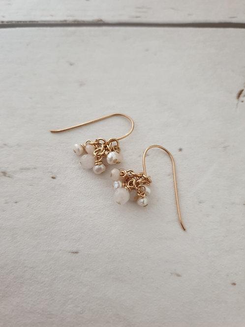 White Bouquet Earrings