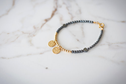 Gold and Black with double round pendants