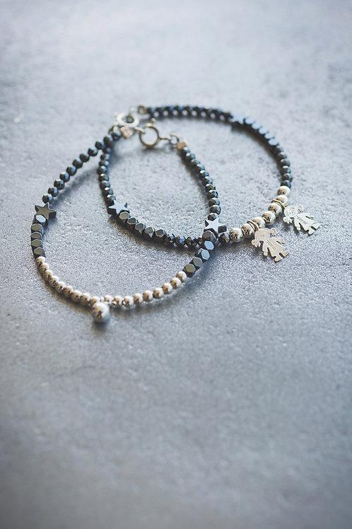 Set of Kids Beads Brecelets