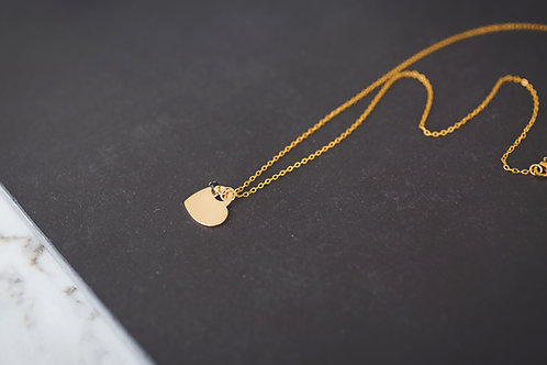 The Slanted Gold Heart Necklace