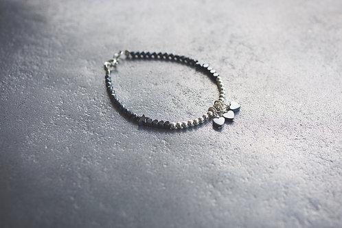 Little Black Triple  Hearts Bracelet