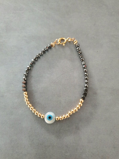 Gold and Black with Eye pendant