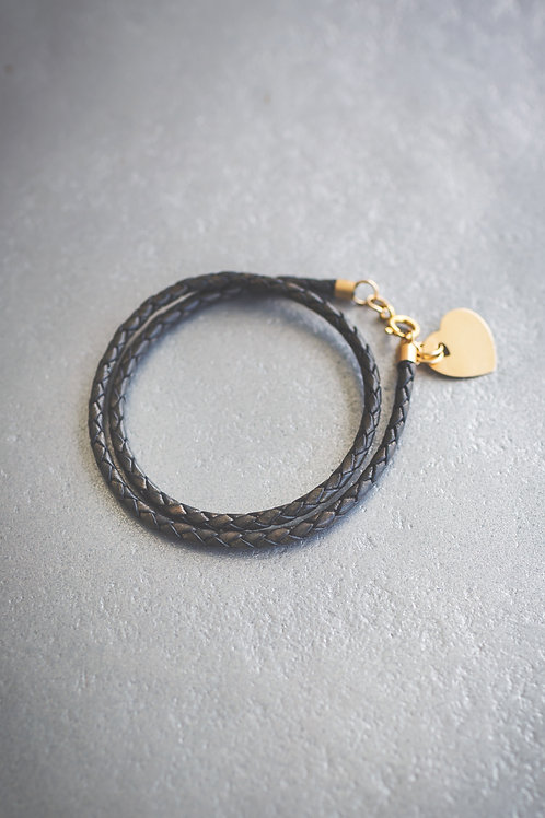 The Heart Bound Leather Bracelet