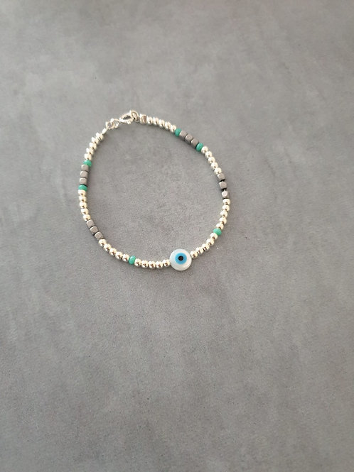 The Eye Silver Bracelet