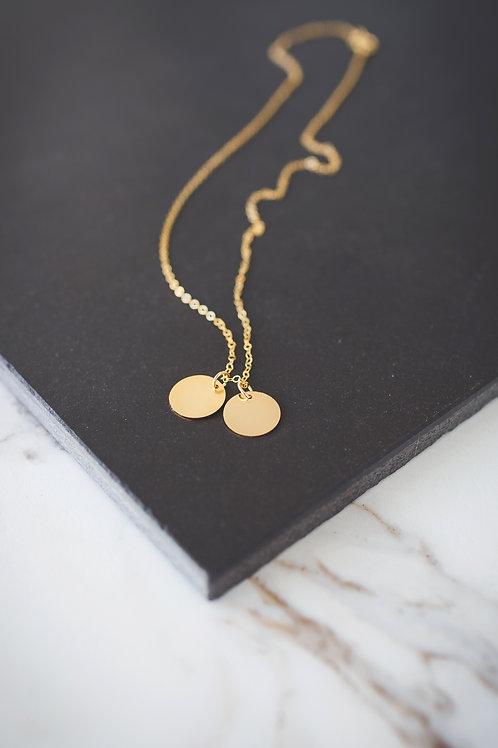 Double Round Pendants Necklace