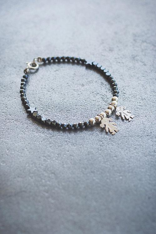 The Black and Silver Kids pendants Bracelet