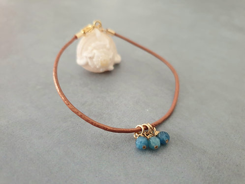 Leather Bracelet and Blue