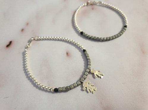 The Silver Kids pendants Bracelet