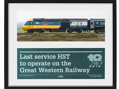 43002 & Last HST green label framed