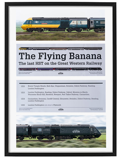 Flying Banana Tour framed