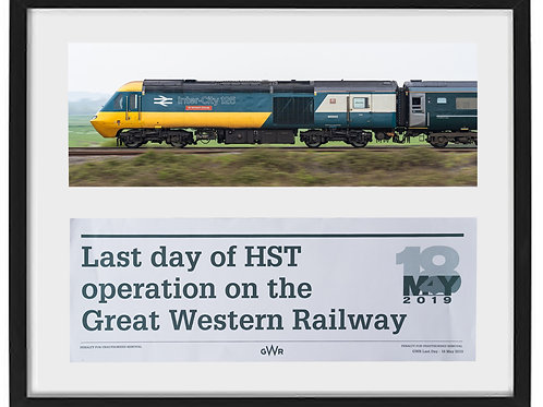 43002 & Last HST white label  framed