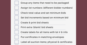 Free Silent Auction Prep Checklist