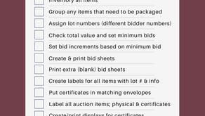 Free Silent Auction Prep Checklist