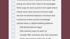 Free Online Auction Prep Checklist
