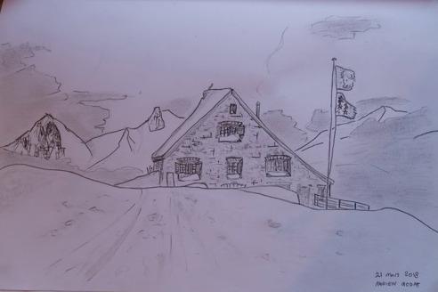 La cabane (en dessin)