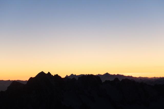 Mt Blanc - lever de soleil