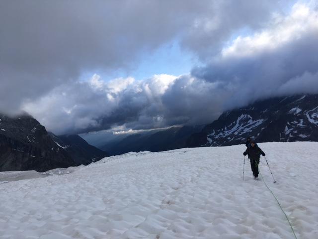 Sur le glacier Durand