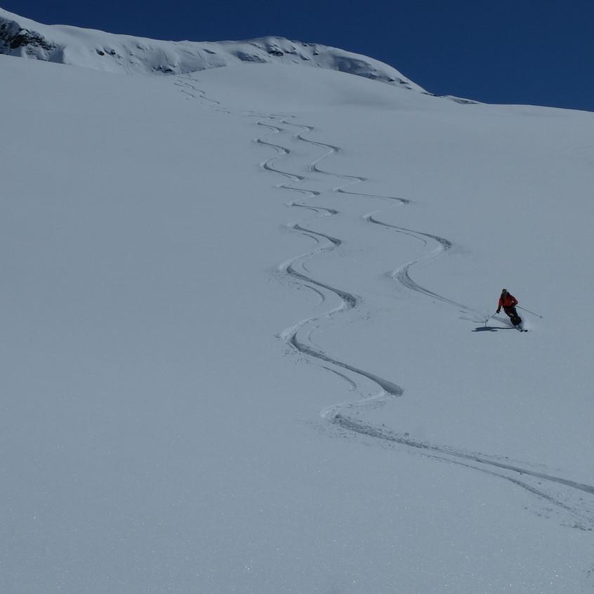Poudre au Mt Taou Blanc