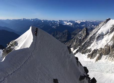 L'arête Küffner du Mont Maudit