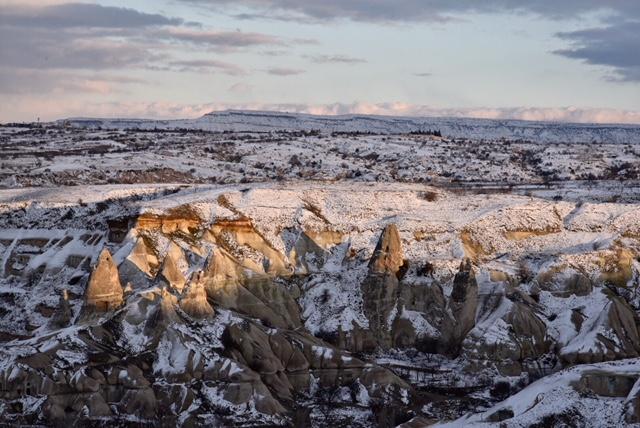 Cappadoce sous la neige