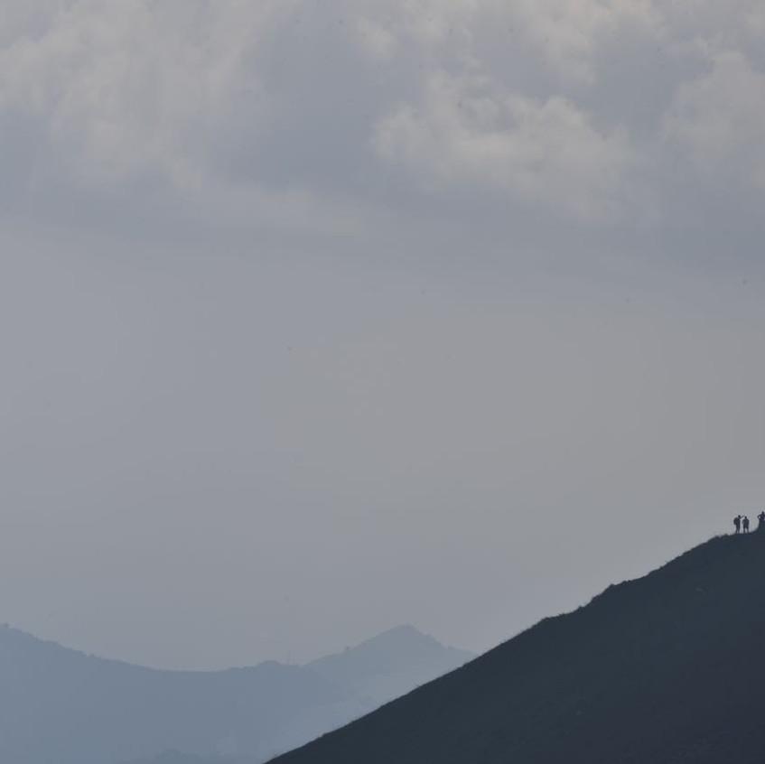 Randonneurs au retour du sommet