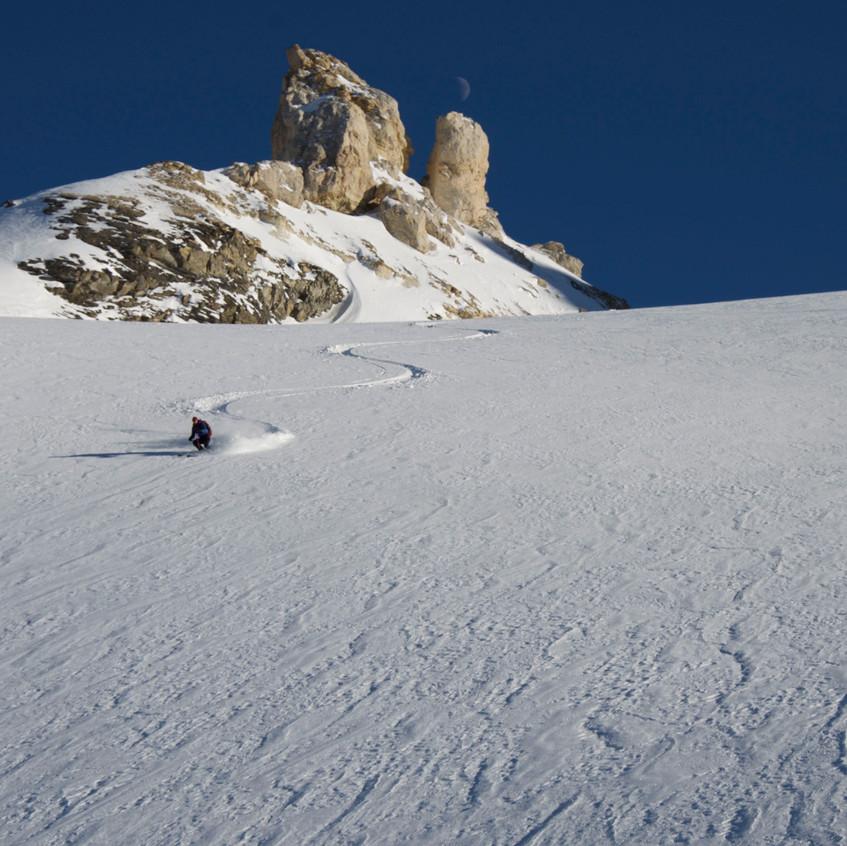 Beau ski à la Galise
