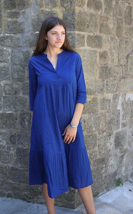 Zen Ethic Elena Cotton Dress - Blue