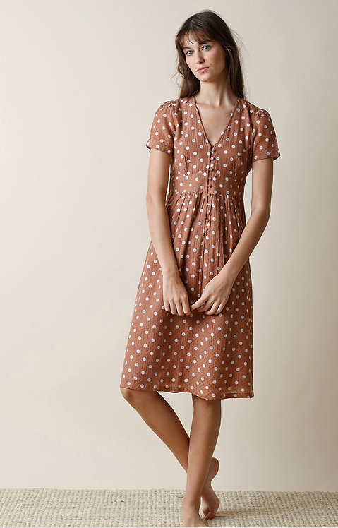 Indi and Cold Cinnamon Spot Dress