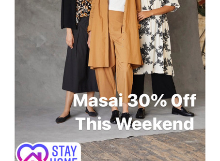 New Spring Masai at 30% Off This Weekend