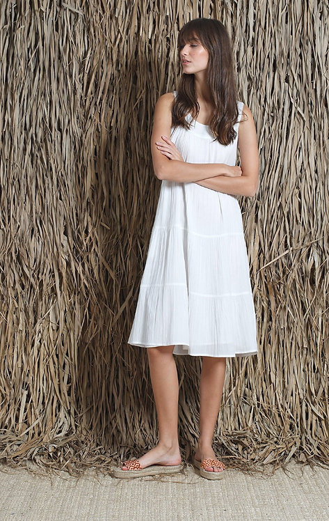 Indi and Cold WhiteTiered Dress