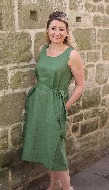 Masai Offelia Linen Dress - Green
