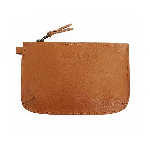 Aura Que - Pari Leather Coin Purse - Tan