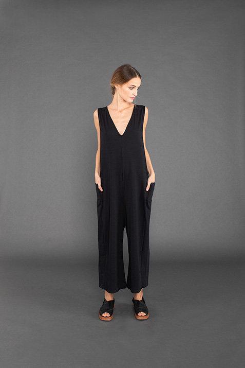 Mama B Naxos Black Jumpsuit
