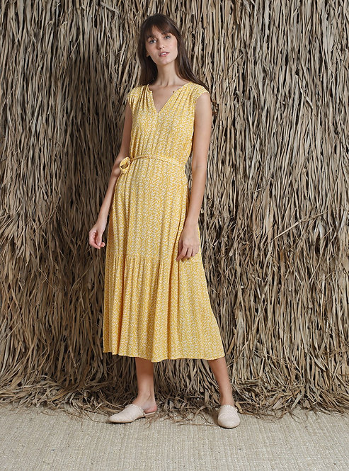 Indi and Cold Fluid Yellow Dress