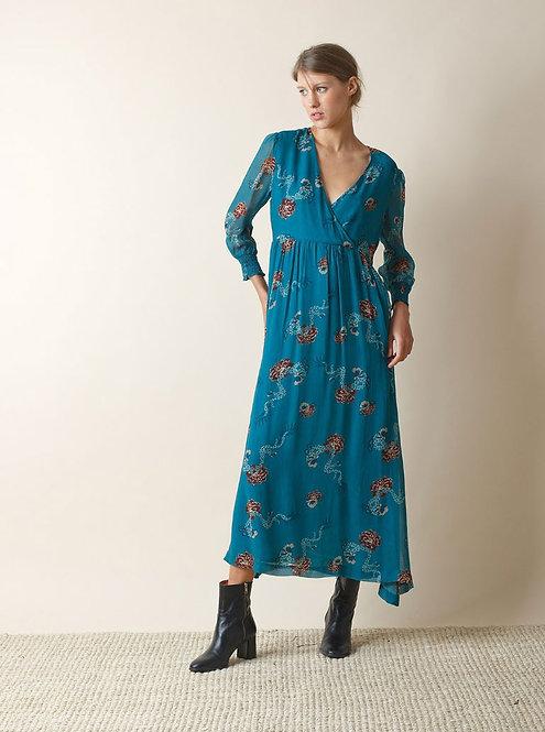Indi and Cold - Dragon Print Loose Midi Dress