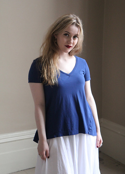 European Culture Blue T Shirt - French Blue