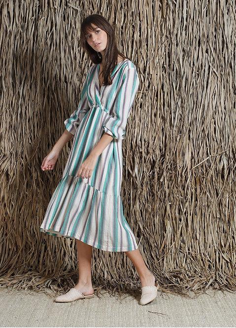 Indi and Cold Stripe Dress - Mint
