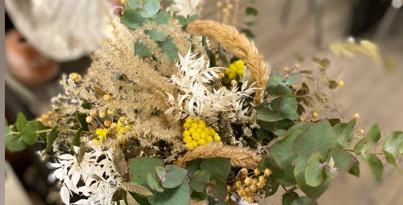 Bouquet nature touche de jaune