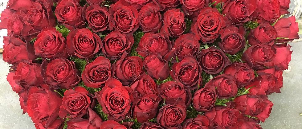 Grand coeur de rose