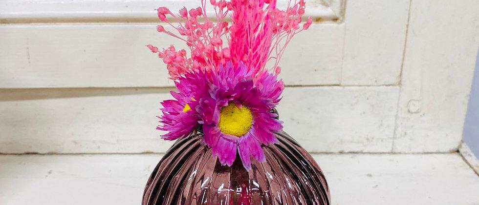 Mini Vase fleuri pepsi rose