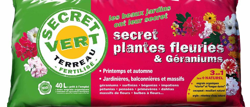 Terreau pour plantes fleuries et géraniums