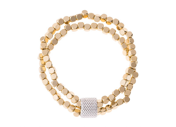 N&B Gold Beaded Bracelet
