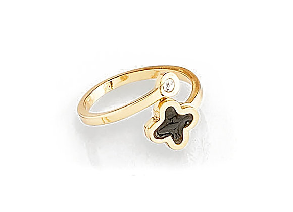 N&B Adjustable Floral Ring