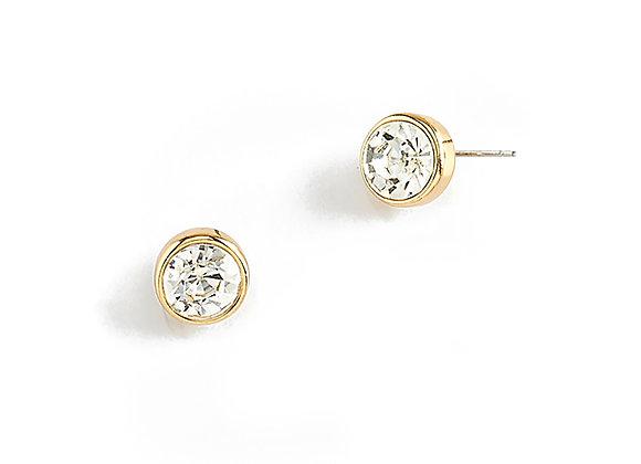 N&B Stone Post Earrings