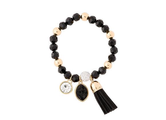 N&B Elastic Bracelet in Black & Gold
