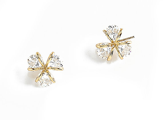 N&B Gold Plated Nicestone Studs