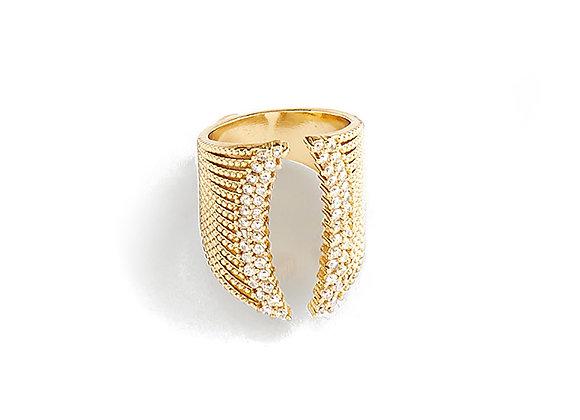 N&B Crystal Point Ring